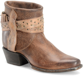 Sonora Brown Randi Leather Ankle Boot