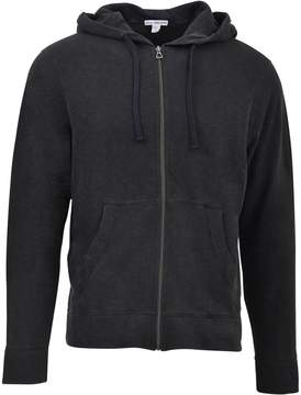 James Perse Black Hooded Zip-up Jacket