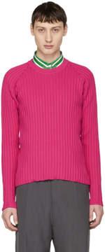 Ami Alexandre Mattiussi Pink Knit Crewneck Sweater