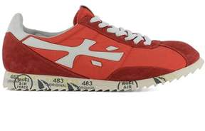 Premiata Men's Red Fabric Sneakers.