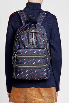 Marc Jacobs Printed Backpack - BLUE - STYLE