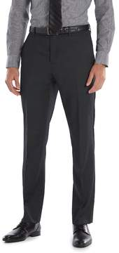 Marc Anthony Men's Slim-Fit Wool Black Flat-Front Suit Pants