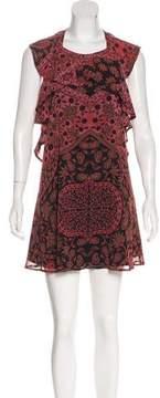 For Love & Lemons Chiffon Printed Dress