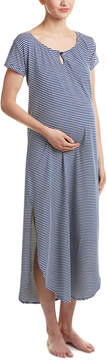 Belabumbum Maternity Striped Night Gown