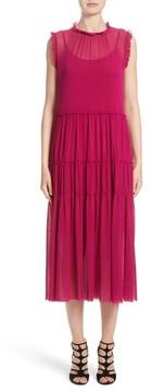Fuzzi Women's Tiered Tulle Dress