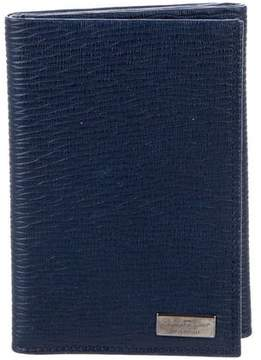 Salvatore Ferragamo Textured Leather Trifold Wallet