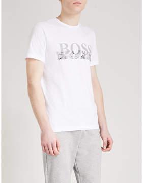 BOSS GREEN Embossed cotton-jersey T-shirt