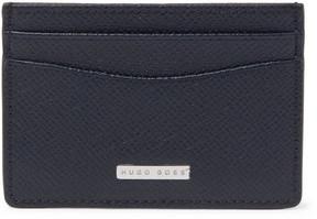 HUGO BOSS Embossed Cross-Grain Leather Cardholder