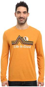 Life is Good Downhill Long Sleeve Cool Tee Men's Long Sleeve Pullover