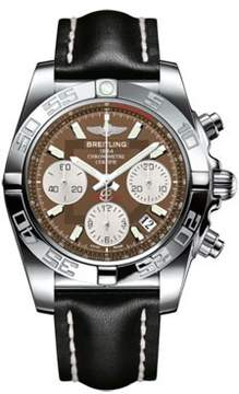 Breitling Chronomat 41 Brown Dial Stainless Steel Men's Watch