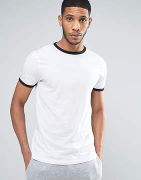 New Look Ringer T-Shirt In White