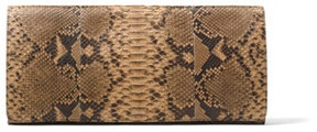 Michael Kors Christy Foldover Clutch - BROWN - STYLE