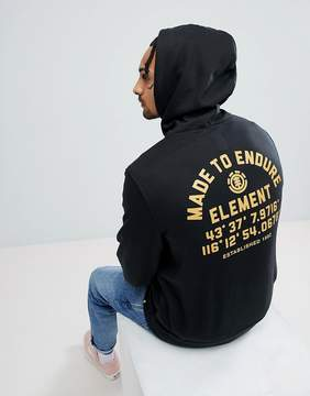 Element Hub Hoodie With Back Print