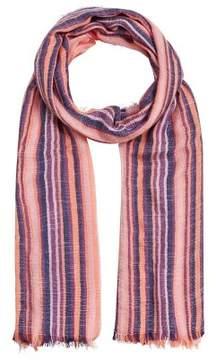 MANGO Multicolor striped scarf