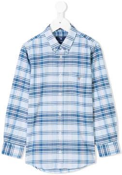 Gant Kids plaid button-down shirt