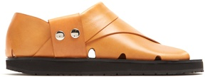 Joseph Collapsible-heel leather flat sandals