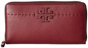 Tory Burch McGraw Zip Continental Wallet Bill-fold Wallet - BLACK - STYLE