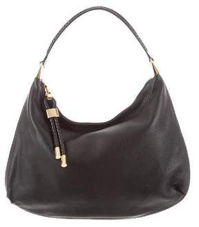 Michael Kors Braided Trim Leather Hobo