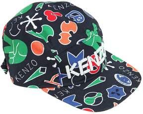 Kenzo Printed Cotton Canvas Baseball Hat