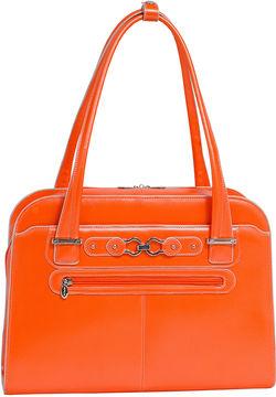 McKlein McKleinUSA Oak Grove 15.4 Leather Fly-Through Checkpoint-Friendly Laptop Briefcase