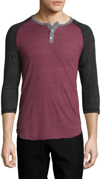 Alternative Apparel Men's Crewneck Raglan Henley