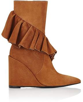 J.W.Anderson Women's Ruffled-Trim Suede Ankle Boots