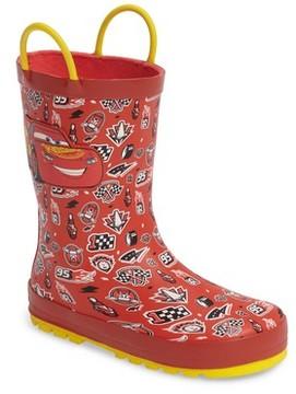 Western Chief Toddler Boy's Cars Lightning Fast Waterproof Rain Boot