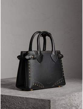 Burberry The Small Banner in Riveted Leather