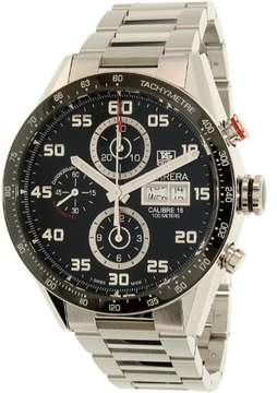 Tag Heuer Carrera Automatic Chronograph Black Dial Stainless Steel Men's Watch CV2A1R.BA0799