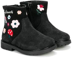 Simonetta floral embroidered boots