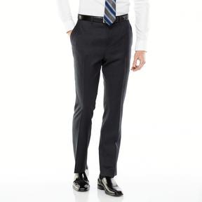 Marc Anthony Men's Slim-Fit Wool Flat-Front Black Suit Pants