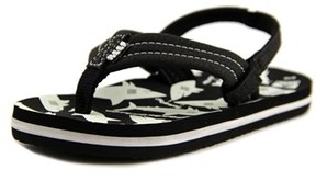Reef Ahi Glow Toddler Open Toe Synthetic Black Flip Flop Sandal.