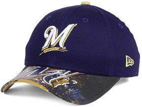 New Era Kids' Milwaukee Brewers Splatter Vize Snapback Cap