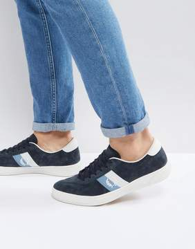 Fred Perry B1 Sports Authentic Tennis Suede Sneakers Navy