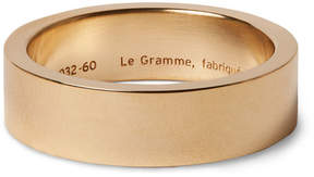 Le Gramme 13g 7mm Slick-Brushed 18-Karat Gold Ring