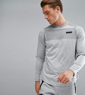Ellesse Sport Long Sleeve T-Shirt With Panel Logo In Gray
