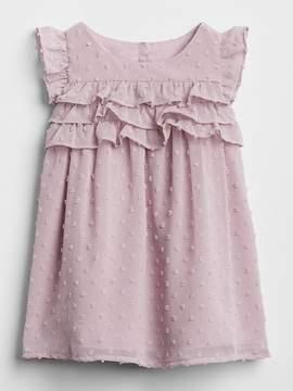 Gap Swiss Dot Ruffle Dress