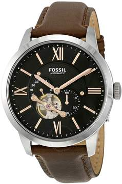 Fossil Townsman Mechanical Black Dial Brown Leather Men's Watch