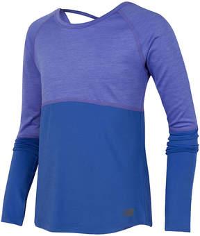 New Balance Long Sleeve Round Neck T-Shirt-Preschool Girls