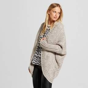 Cliche Women's 3/4 Sleeve Cocoon Cardigan Sweater Gray