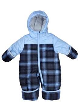 Carter's Infant Boy Blue Plaid Quilted Snowsuit Baby Pram Snow Suit 3-6m