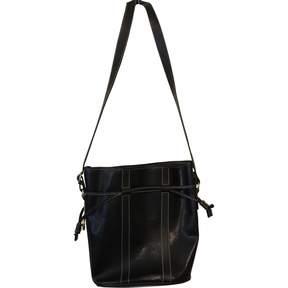 Lancel Elsa Sellier Black Leather Handbag