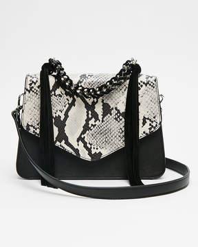 Express Chain Handle Snake Print Bag