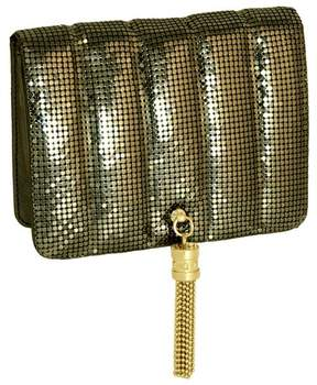 Whiting & Davis Quilted Tassel Clutch