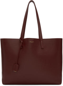 Saint Laurent Red East-West Shopping Tote - RED - STYLE