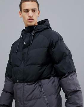 Burton Snowboards Traverse Puffer Jacket Hooded in Black/Gray