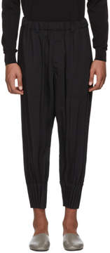 Issey Miyake Black Pleated Bottom Trousers