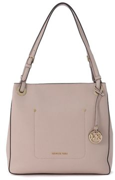 Michael Kors Walsh Handbag In Pink Saffiano Leather - ROSA - STYLE