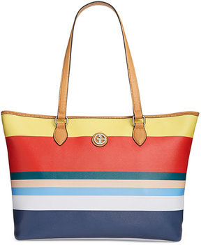 Giani Bernini Striped Saffiano Large Tote, Created for Macy's