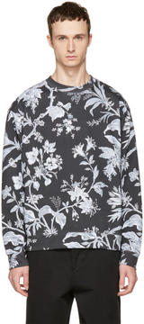 McQ Grey Oversized Floral Sweatshirt